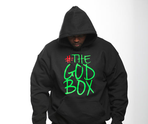 The God Box Hooded Sweat Shirt, Black