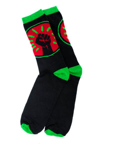 Black Fist  Crew Socks - Black