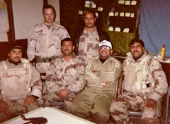 Ian Ramsdell with Iraqi Military