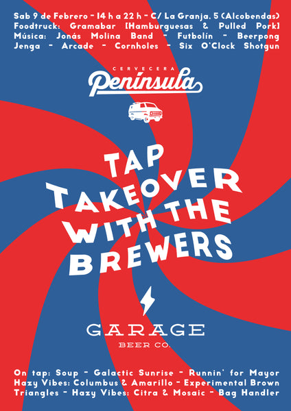 Colaboración + Tap Takeover with the Brewers Feat. Garage Beer Co. ⚡