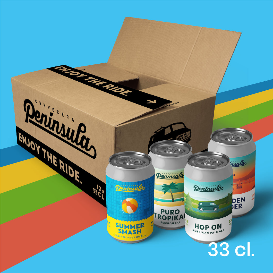 12-Pack Golden Lager + Puro Tropikal + Hop On + Summer Smash