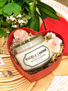 1 of 350 gr (60hrs) Habitatku Luxury Collection Candle with Heart Box Packaging