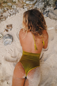 Marija One Piece - Mossy Green & Antique