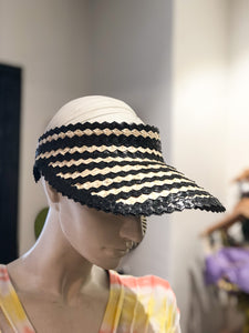 Sun Visor Hat (Black/White)