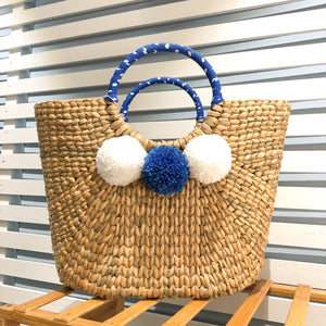 Siroi Reed Grass Mardi Bag Blue (Free 2 Ply Cotton Mask)