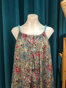 Grey Flower Balo Dress