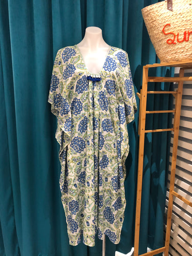 Blue & Green Long Kaftan