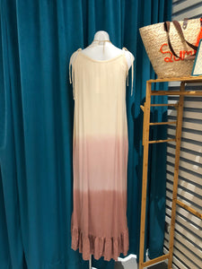 Pink Ombre High Low Dress