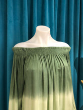 Load image into Gallery viewer, Green Ombre Off Shoulder Dress
