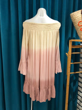 Load image into Gallery viewer, Pink Ombre Off Shoulder Dress
