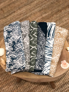 Short Hand Block Batik Pareo (Recommended for Shawl / Scarf / Waist Cover Up usage)