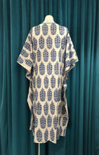 Load image into Gallery viewer, White & Blue Long Kaftan