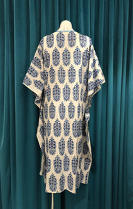 White & Blue Long Kaftan