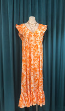 Load image into Gallery viewer, Orange Palm Riverra Dress