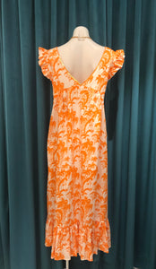 Orange Palm Riverra Dress