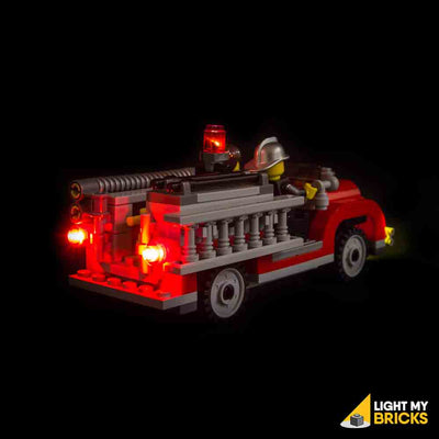 LEGO LED Light Kit for 10197 Fire Brigade Firetruck Rear
