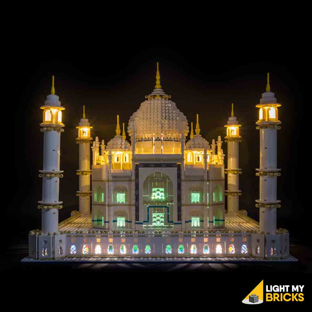 LEGO LED Light Kit for 10256 Taj Mahal Front Green