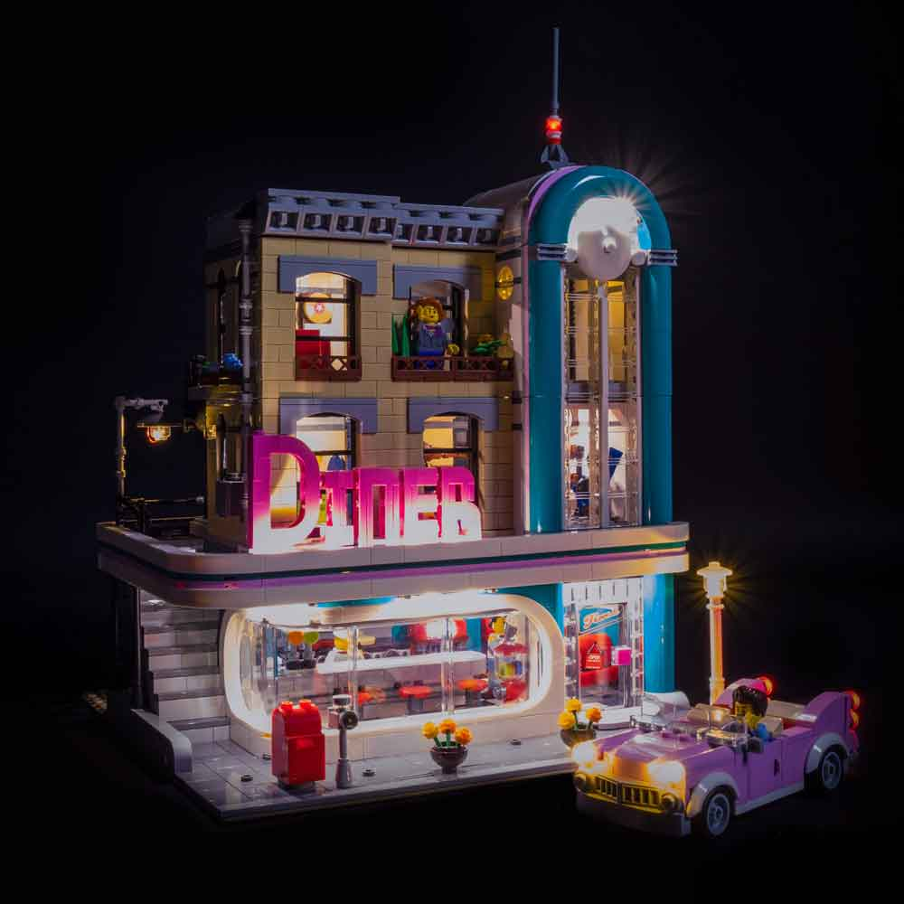 LEGO Downtown Diner #10260 Light Kit