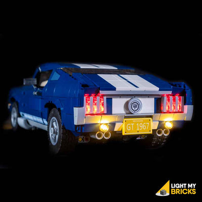 LEGO LED Light Kit for 10265 Ford Mustang GT Car Rear Angle