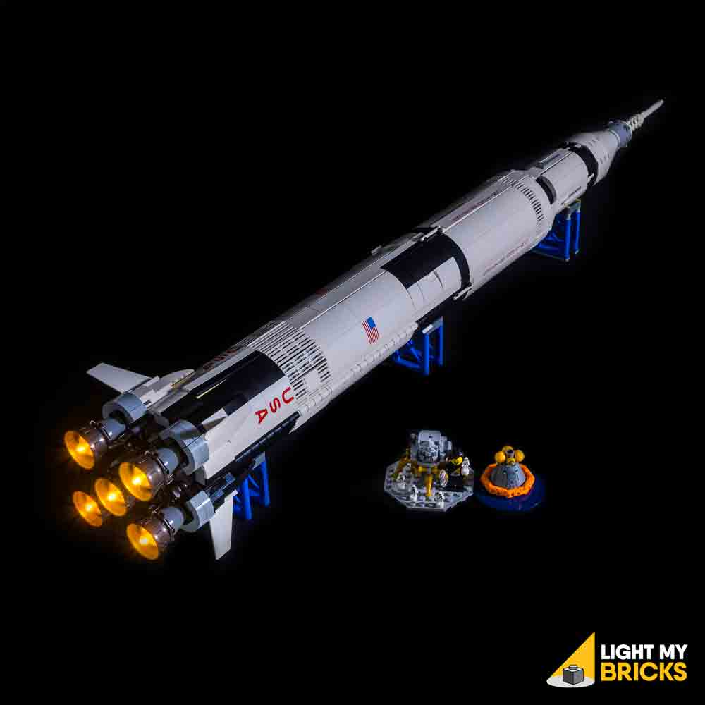 LEGO LED Light Kit for 21309 NASA Apollo Saturn V Complete Top