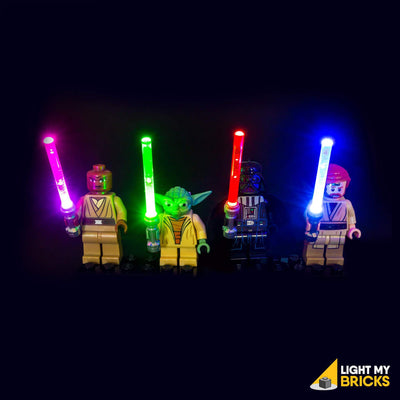 LED LEGO Lightsabers - Purple, Green, Blue, Red
