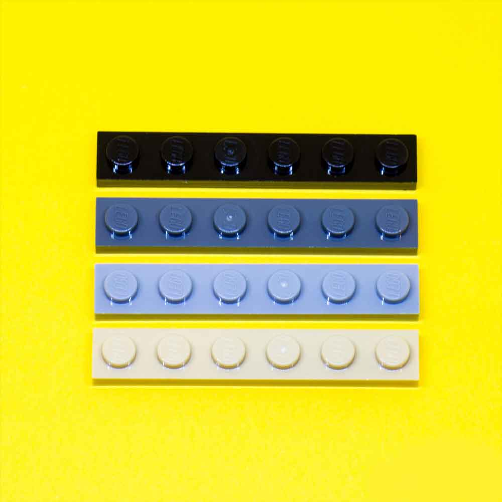 LEGO 1 x 6 plate (Assorted Colours)