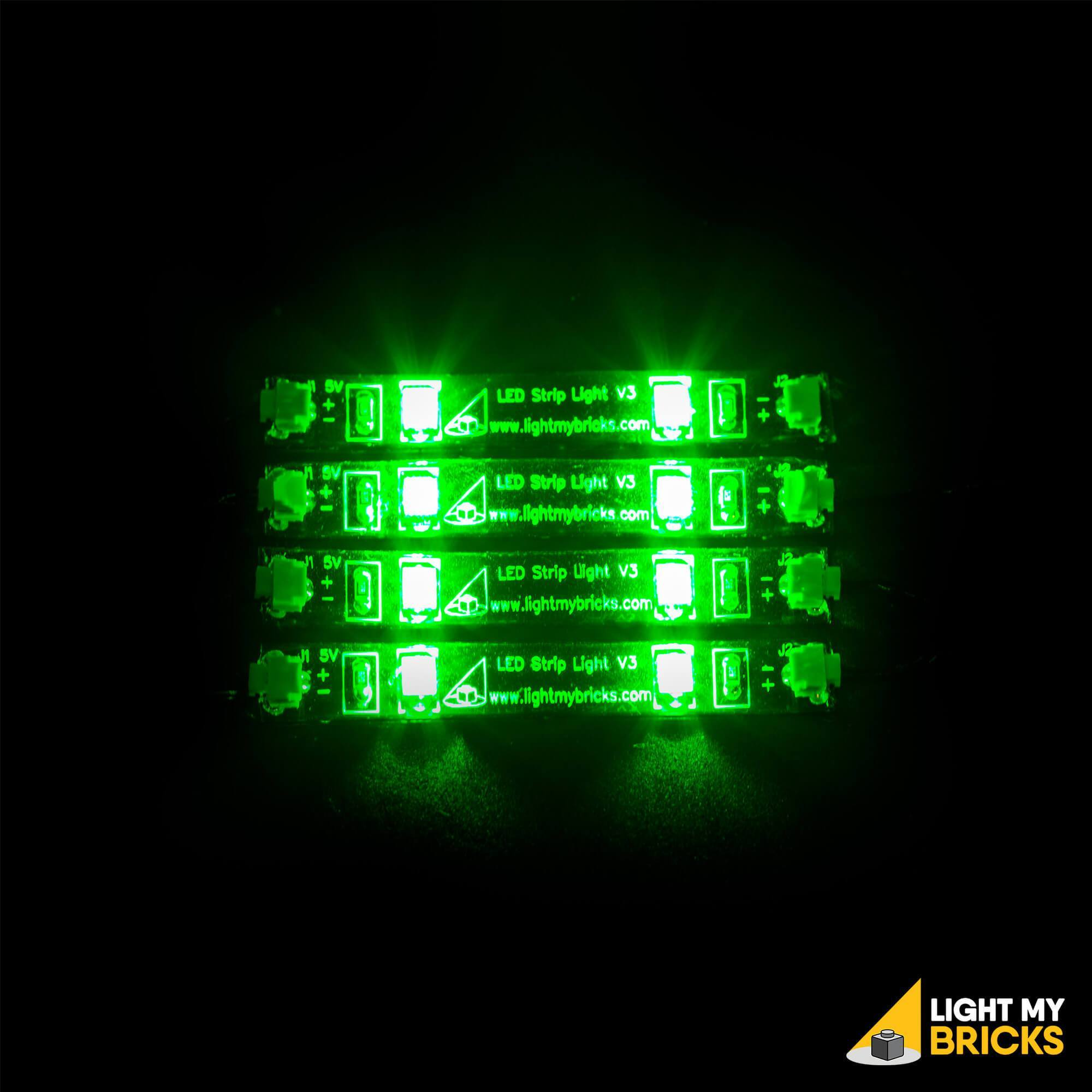 Light My Bricks LEGO Lighting Component - LED Strip Light Green Activated