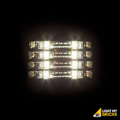 Light My Bricks LEGO Lighting Component - LED Strip Light White Activated