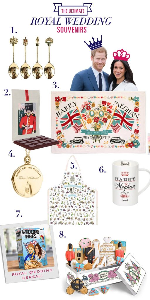 THE ULTIMATE ROYAL WEDDING SOUVENIR LIST