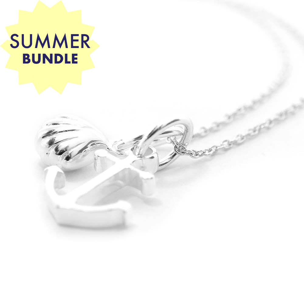 Mini Silver Summer Necklace Bundle