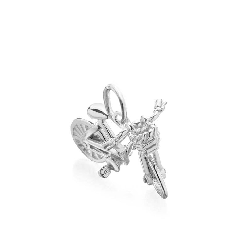 Sterling Silver Bike Charm - JET SET CANDY