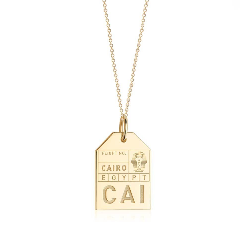 Gold Egypt Charm, CAI Cairo Luggage Tag - JET SET CANDY