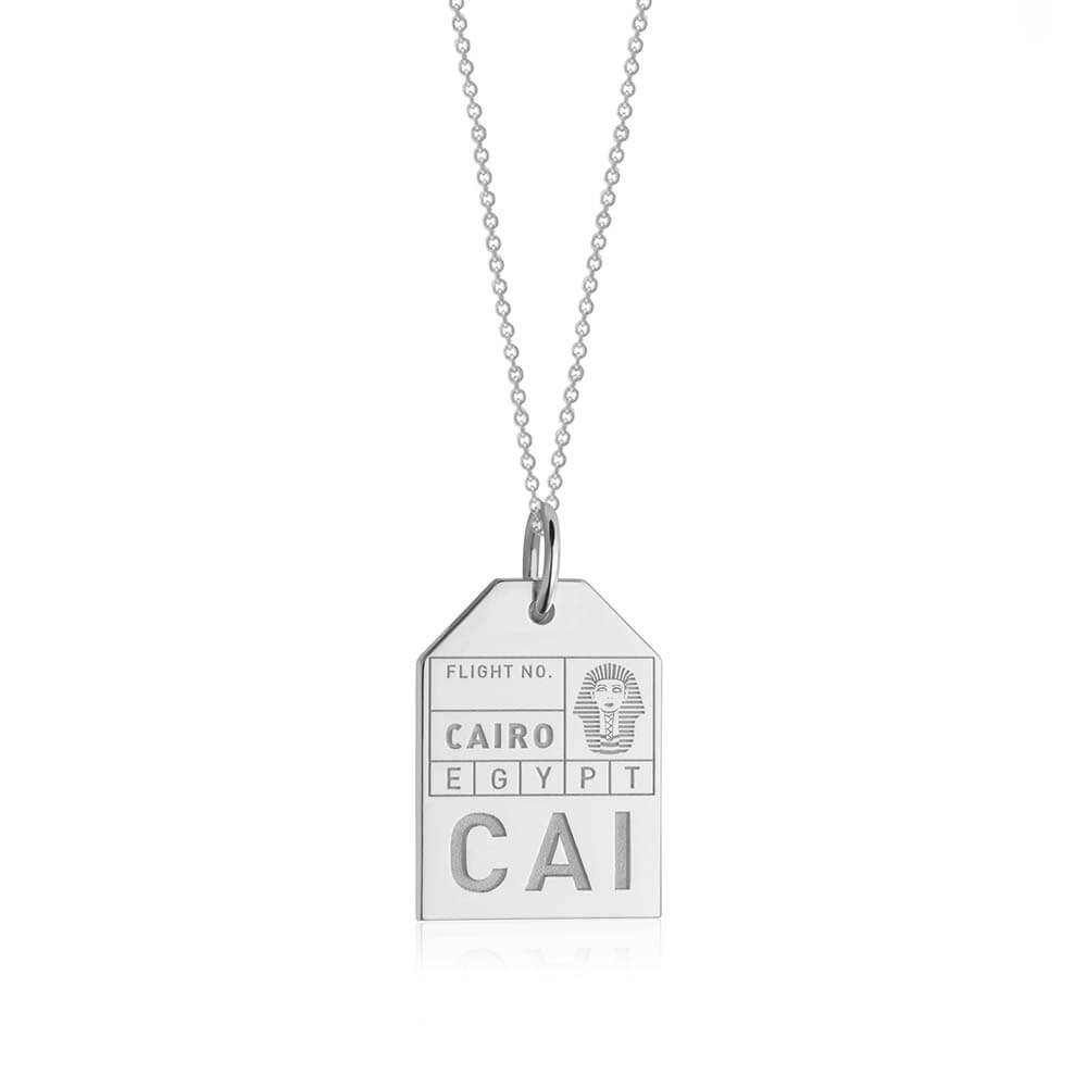 Silver Egypt Charm, CAI Cairo Luggage Tag - JET SET CANDY