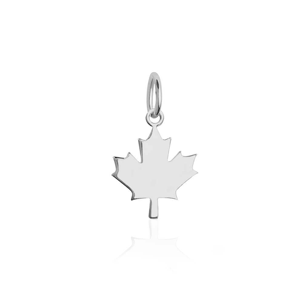 Mini Silver Canada Maple Leaf Charm-GWP