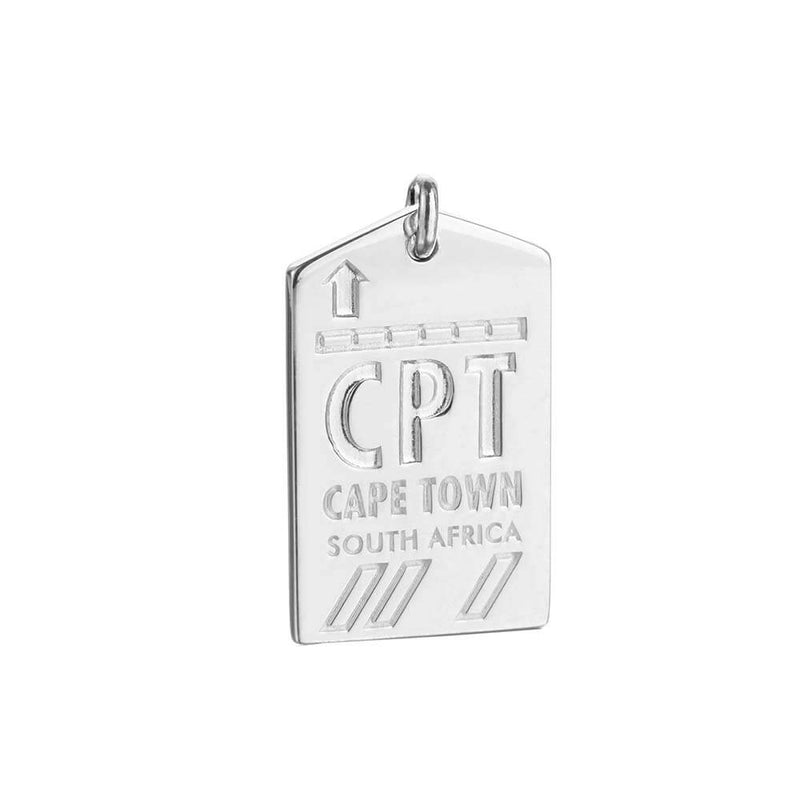 Silver Cape Town Charm, CPT Luggage Tag - JET SET CANDY