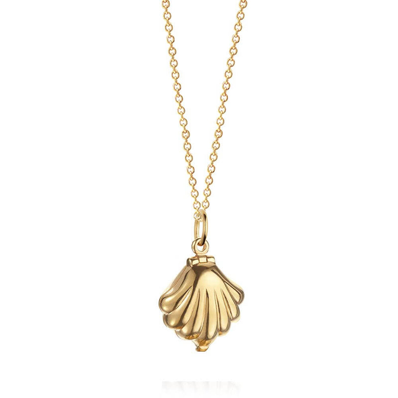 Gold Clamshell Charm - JET SET CANDY