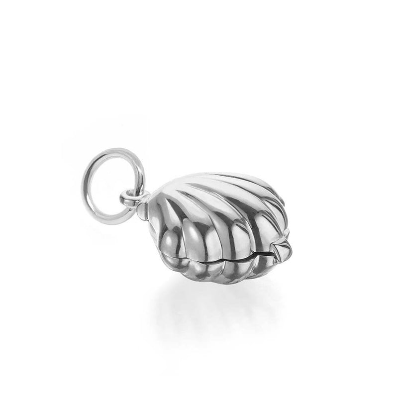 Silver Clamshell Charm - JET SET CANDY