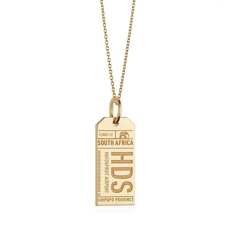 Gold South Africa Charm, HDS Hoedspruit Luggage Tag - JET SET CANDY