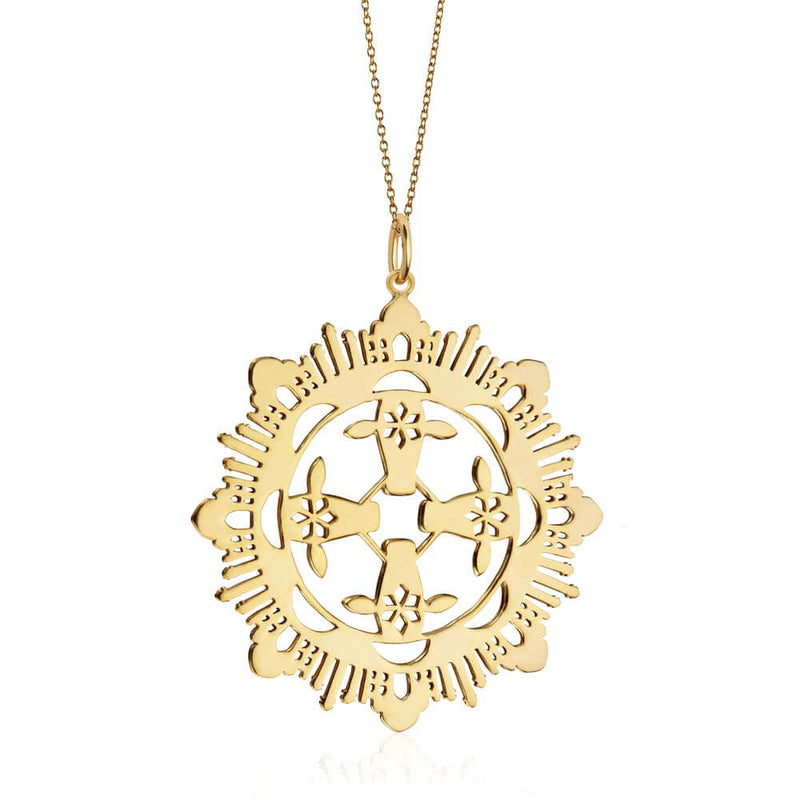 Gold India Pendant Necklace - JET SET CANDY