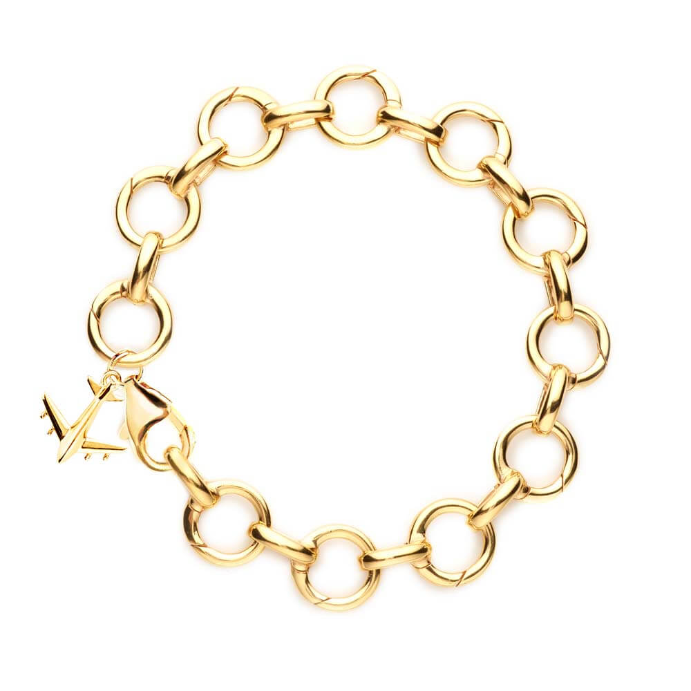 Gold Infinity Link Charm Bracelet (BACK-ORDER-SHIPS LATE FEBRUARY) - JET SET CANDY