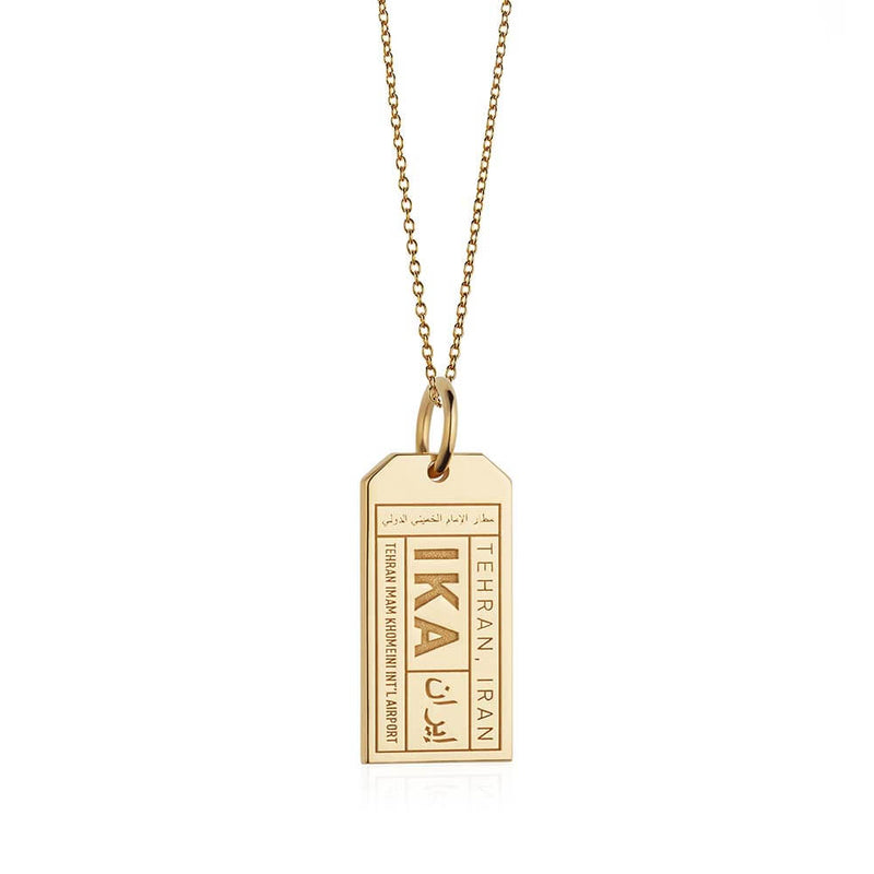 Gold Middle East Charm, IKA Iran Luggage Tag - JET SET CANDY