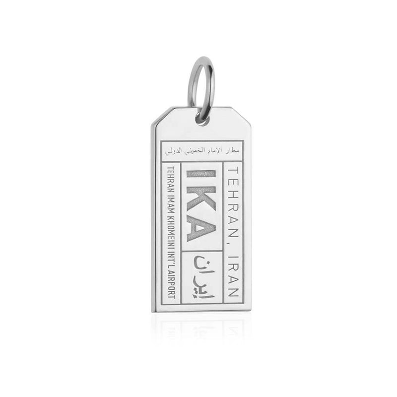 Silver Middle East Charm, IKA Iran Luggage Tag - JET SET CANDY