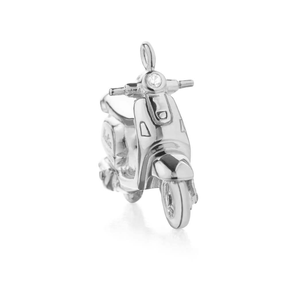 Silver Italy Charm, Scooter - JET SET CANDY