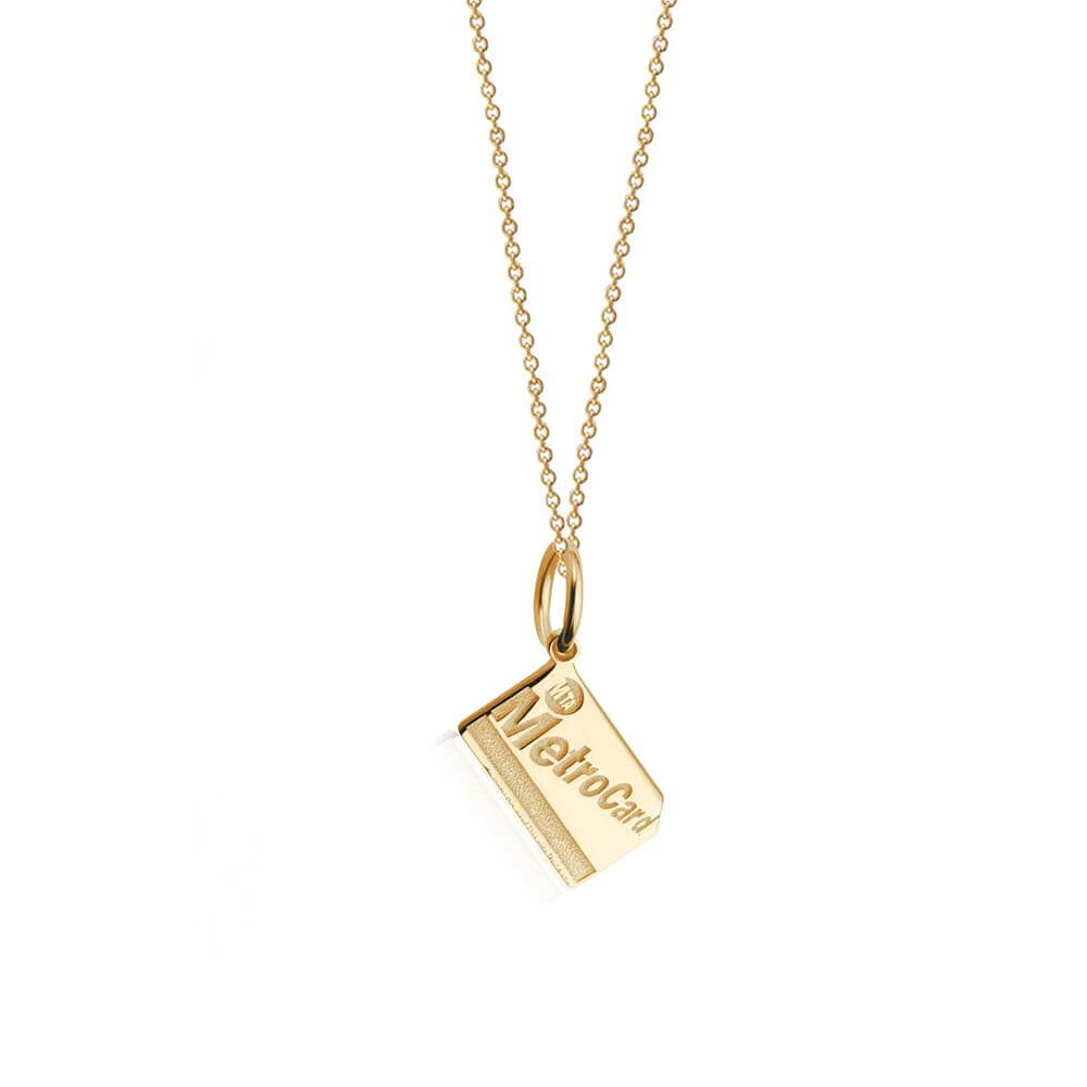 New York Mini Solid Gold Charm, MetroCard - JET SET CANDY