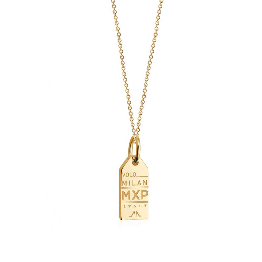 Mini Solid Gold Milan Charm, MXP Luggage Tag - JET SET CANDY