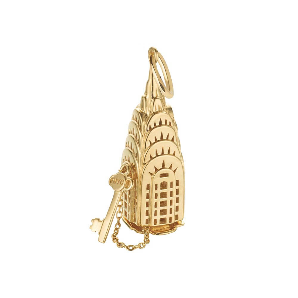 New York Gold Charm, Chrysler Building - JET SET CANDY