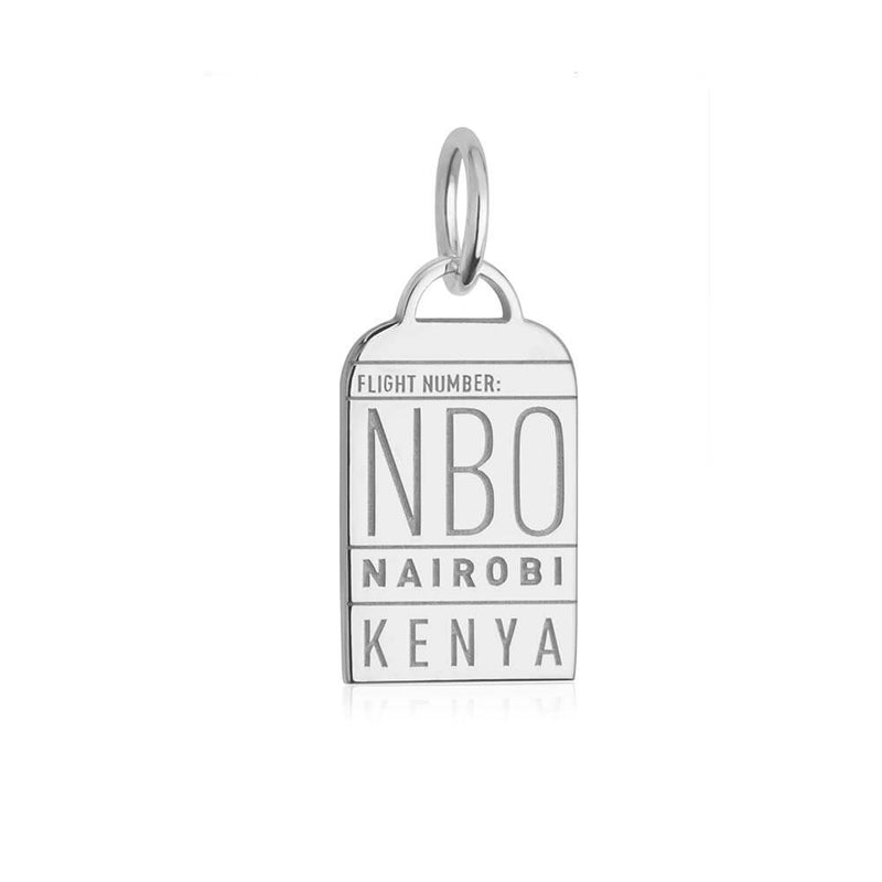 Silver Africa Charm, NBO Nairobi Luggage Tag (BACK-ORDER-SHIPS APRIL) - JET SET CANDY
