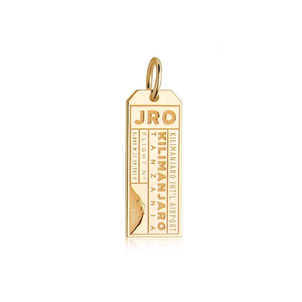 Gold Travel Charm, JRO Kilimanjaro Luggage Tag - JET SET CANDY