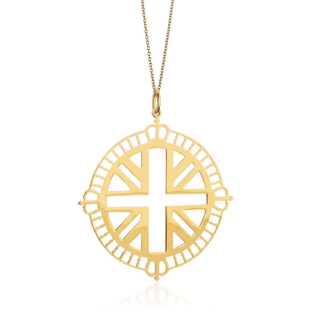 Gold London Pendant Necklace - JET SET CANDY