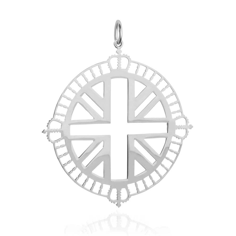 Sterling Silver London Pendant Necklace - JET SET CANDY